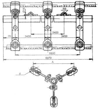 Распорки специальные ЗРС-2/4-400 и ЗРС-4-600