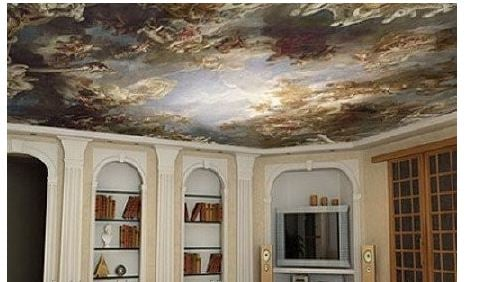 Stretch ceilings with a photo printing