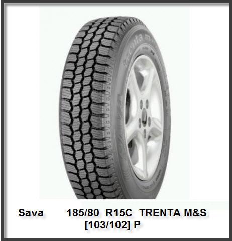 Шины зимние Sava 185/80  R15C  TRENTA M&S  [103/102] P