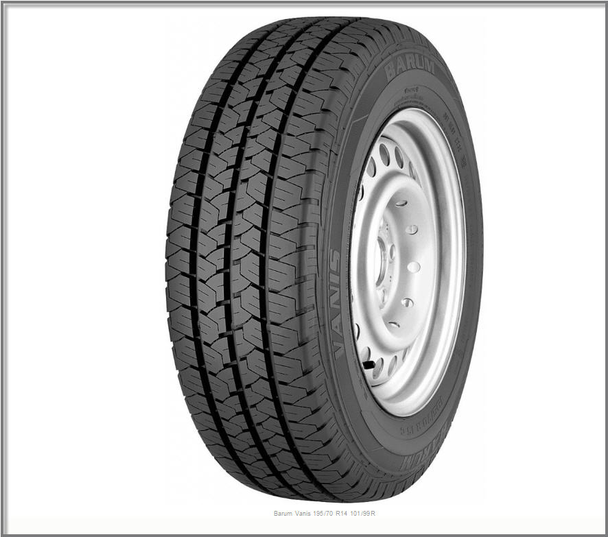 Летние шины BARUM VANIS 195/70 R15 104/102R