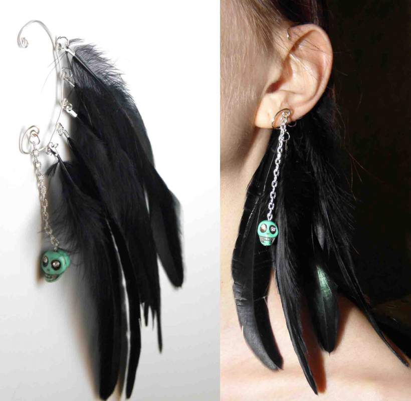 Buy Kaff, jewelry with feathers to buy costume jewelry, hand made jewelry, to buy jewelry, Urain