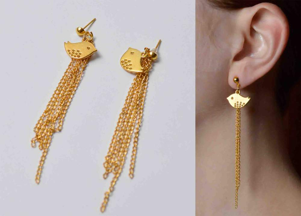 Buy Youth jewelry, earrings carnations, decoration of handwork, golden jewelry to buy costume jewelry