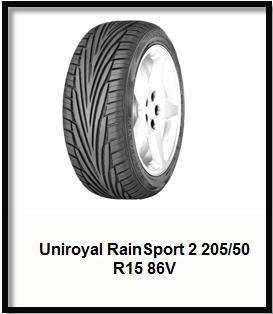 Характеристики Uniroyal RainSport 2 205/50 R15 86V – Шины