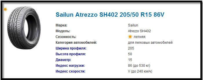 Купить летние шины Sailun Atrezzo SH402 205/50 R15 86V
