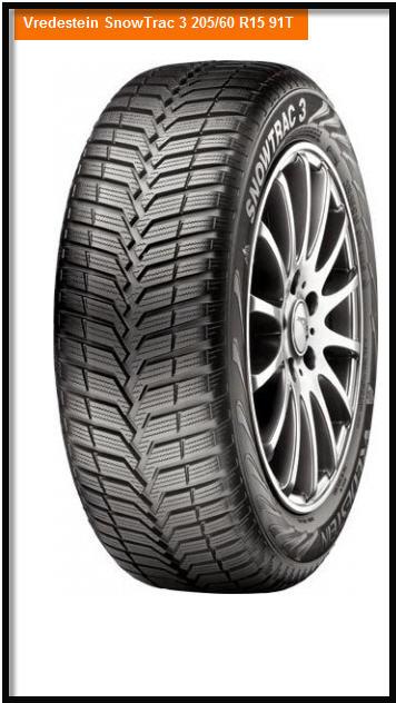 Vredestein Snowtrac 3 205/60 R15 91T - купить зимние шины