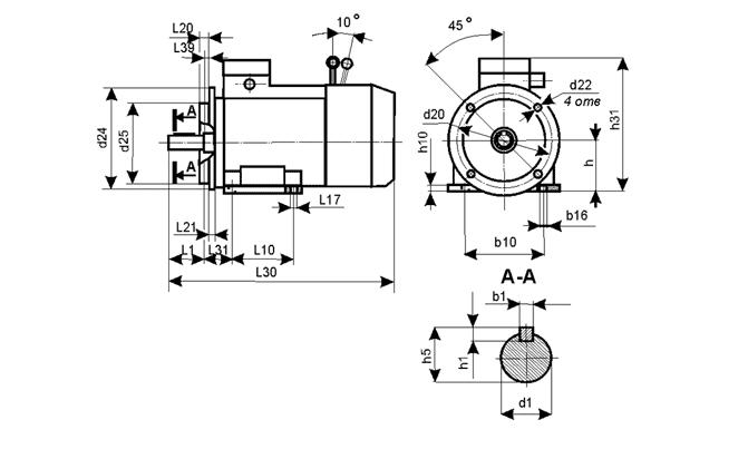 Электродвигатели со встроенным электромагнитным тормозом