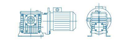 Цилиндро-червячные двухступенчатые редукторы, мотор-редукторы