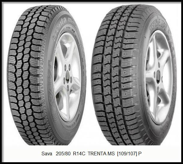Купить зимние шины SAVA TRENTA M+S 205/80 R14C 109/107P в Украине