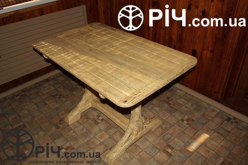 сосновый стол под старину материал выжженное структурированное дерево