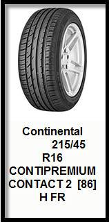Автомобильные шины Continental ContiPremiumContact 2 215/45R16 86H TL FR
