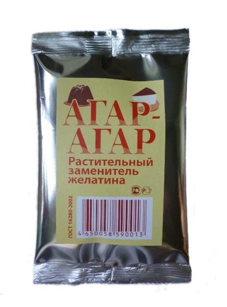 Агар -Агар. Ингредиенты пищевые