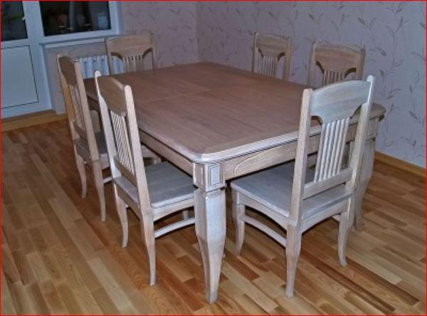набор мебели стол и стулья для кухни из дерева купить в киеве