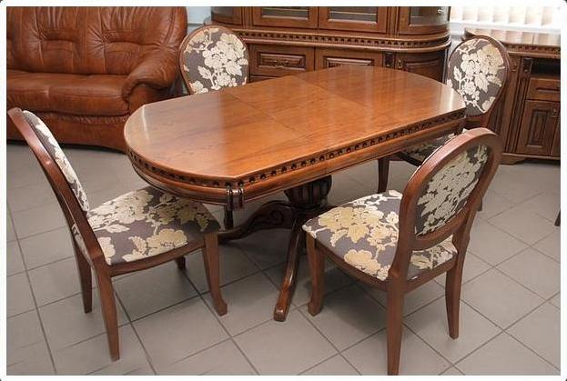 Buy Dining table from an oak with a decor