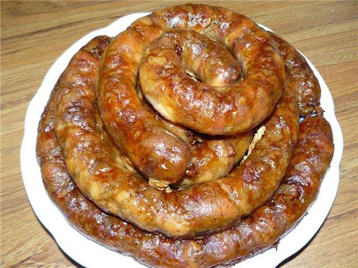 Украинская колбаса рецепт фото