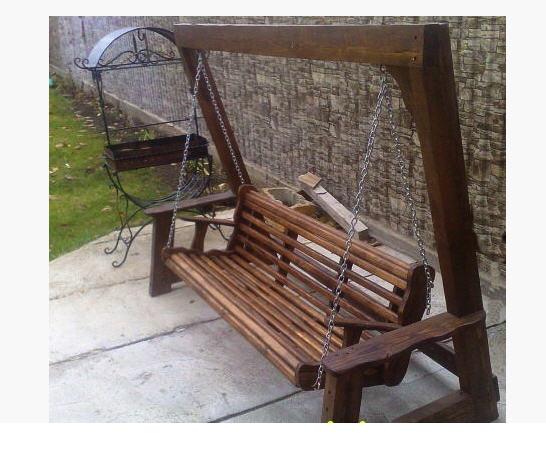 Качели скамейка из дерева