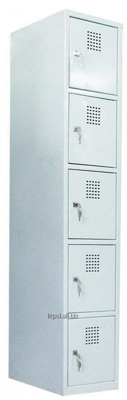 Металлический ячеечный шкаф (локер) на 5 отделений Sus 315