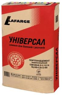 Миколаївцемент - Універсал портландцемент композиційний ПЦ ІІ/Б-К(Ш-3)-400