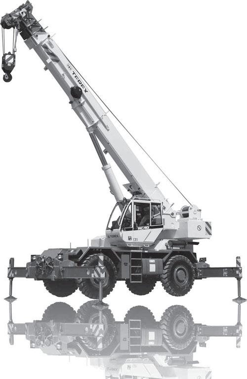 Кран короткобазный Terex RC 45