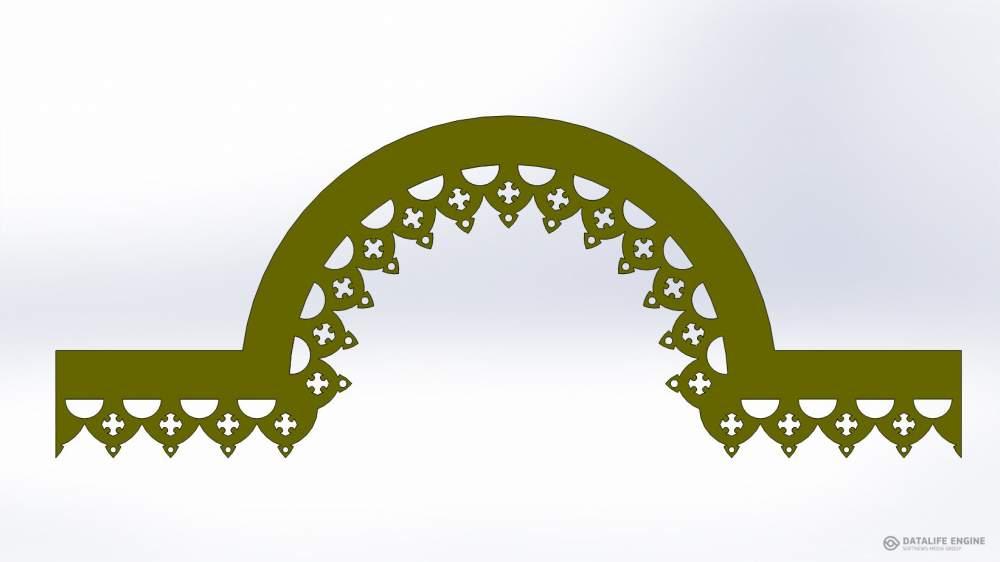 Декоративные элементы с лазерной резкой узора и покрытием нитрид титана