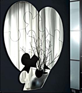 Купить Зеркало настенное Пазл любви, 30х28 см