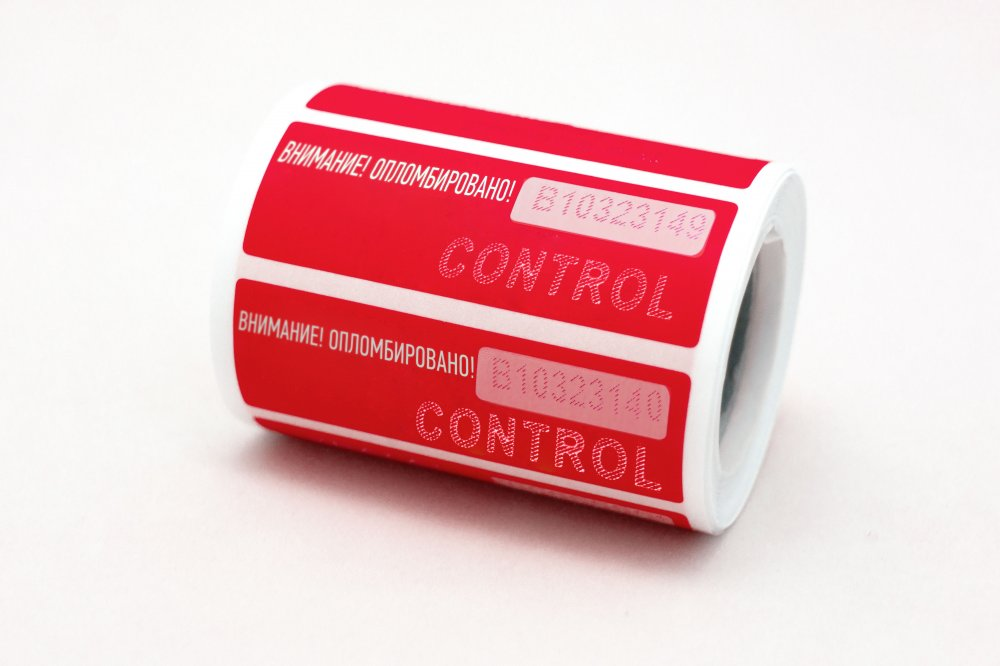 Охранная пломба - наклейка «Барьер» (60*20)