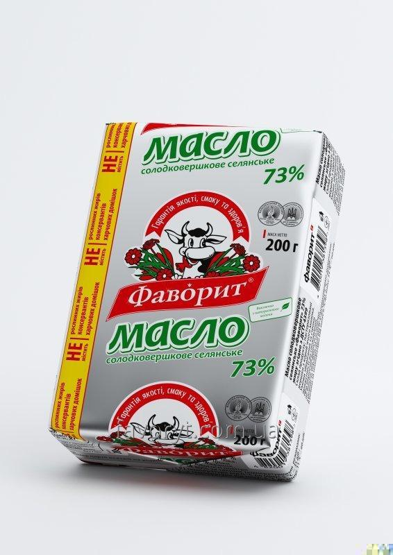"Масло ""Фаворит"" 73%/ Butter ""Favoryt"" 73%, 200 г/g"