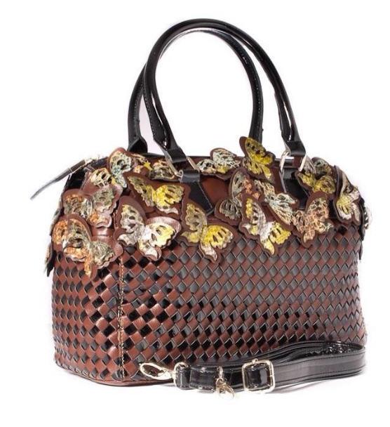 4e3ac81c84c9 Женская кожаная сумка Velina Fabbiano коричневая 68539 купить в ...