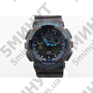 Годинник Casio G-Shock ga-100 Black-Blue водонепроникні купити в Київ e673fbe256b48