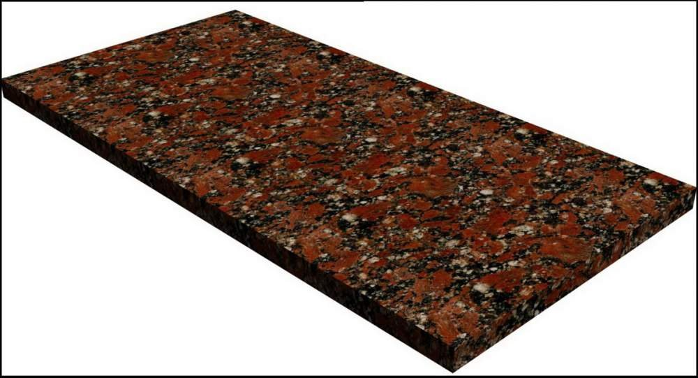 Купить Гранитная плитка Капустинская (Kapustinskoe) Rosso-Santiago 300х600х20 арт.002