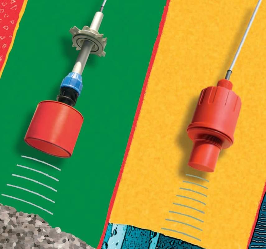 Датчик уровня ультразвуковой интегрированный  EasyTREK для твердых материалов