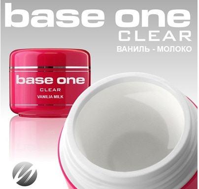 Купить Гели для ногтей Base One Clear Vanilla Milk