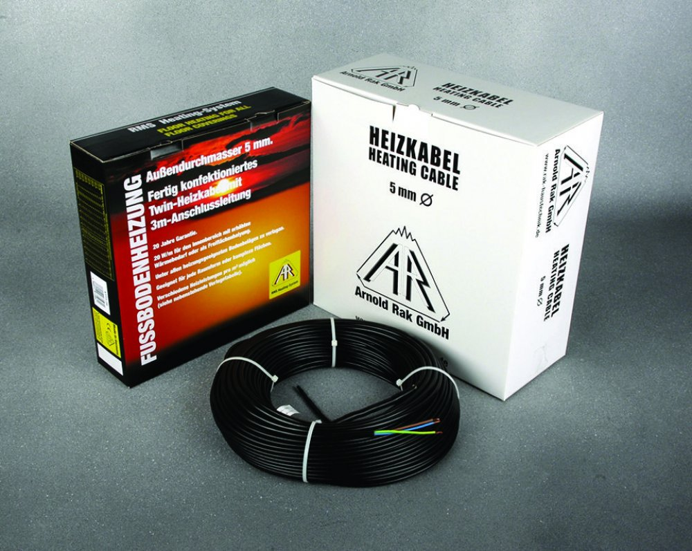 Теплый пол электрический Двужильный нагревательный кабель A.Rak SIPC 6102-30, КТС
