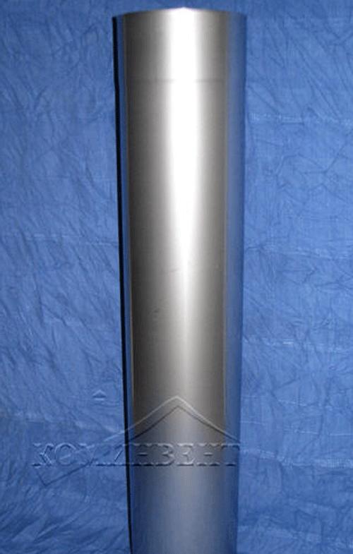 """Труба одностенная дымовая L = 500мм для изготовления любого вертикального дымохода и его горизонтальных участков, соединяется между собой и с другими элементами без дополнительного крепления: """"труба в трубу"""""""