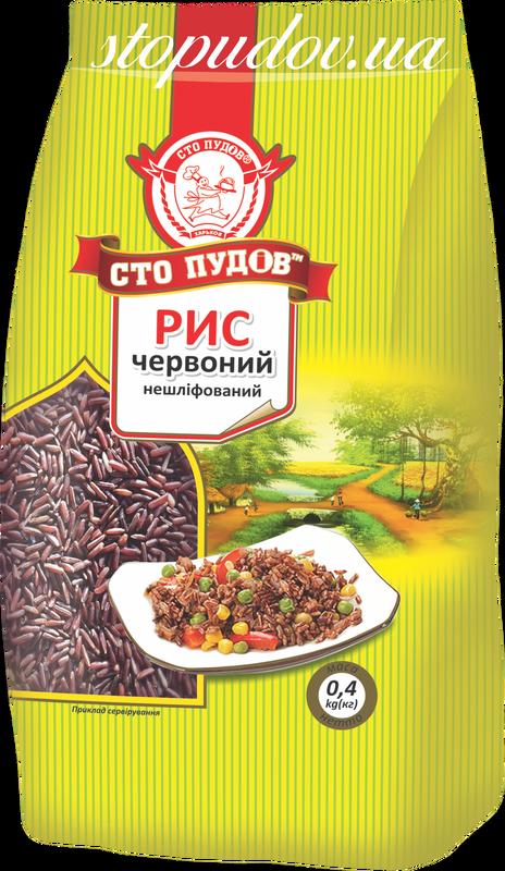 Рис красный нешлифованный, 0,4 кг