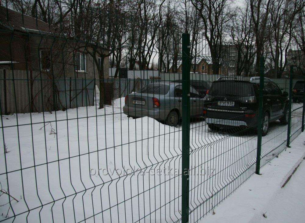 3D fence: section 1.48x2.5m Ø4mm, galvanized with a polymer coating fence made of wire panels TM Cossack