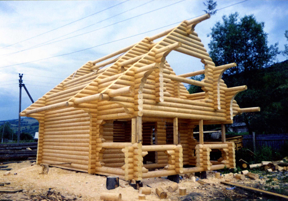 Construction of wooden houses in Europe
