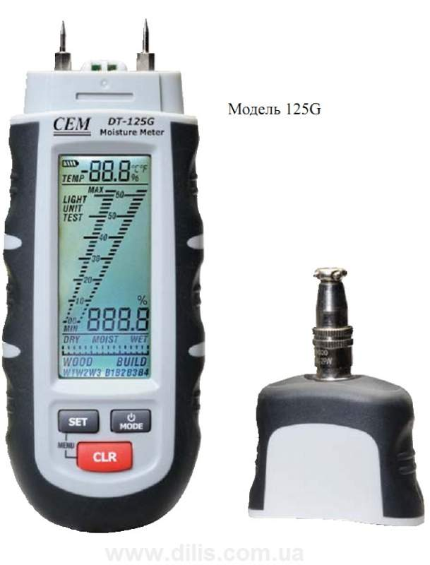 Влагомер древесины и строительных материалов DT-125G - профессиональный
