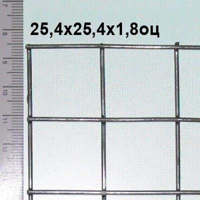 Сетка сварная оцинкованная 25х25х1,8 мм (цинка до 50 г/м2) Из этой сетки изготавливают клетки для кроликов