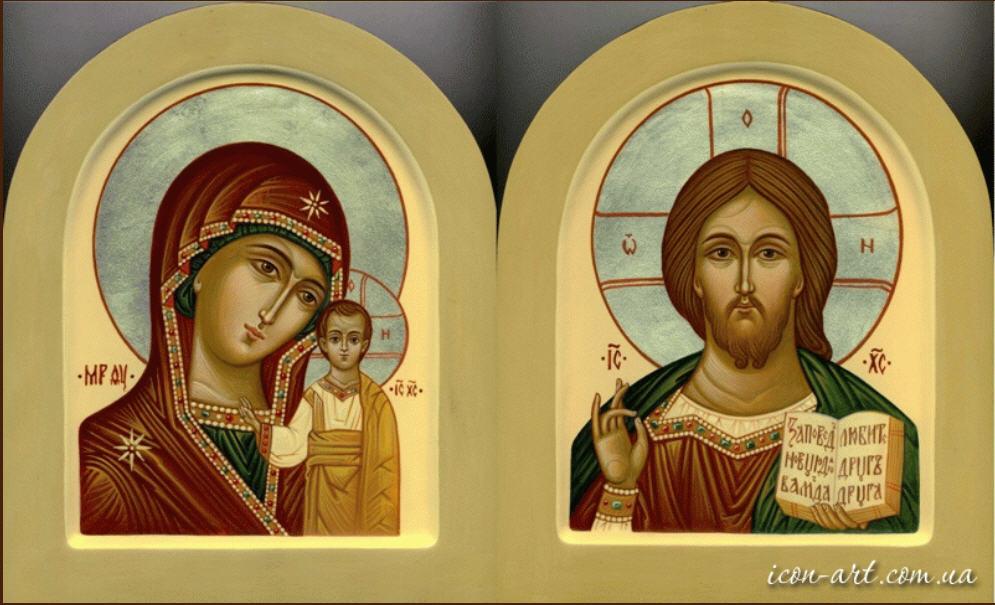 Вінчальна пара Казанська ікона Пресвятої Богородиці й Ісус Вседержитель a4fd7563d7ecd