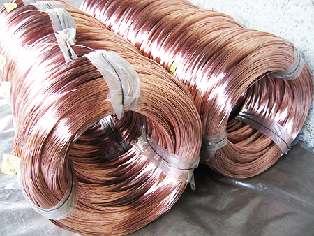 Buy Welding coppered wire of Sv08g2s 2,0 mm of TU U 322-4-392-96