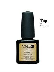 Купити Бази, топи для гель лаків CND Shellac Top Coat Закріплювач, 7,3мол