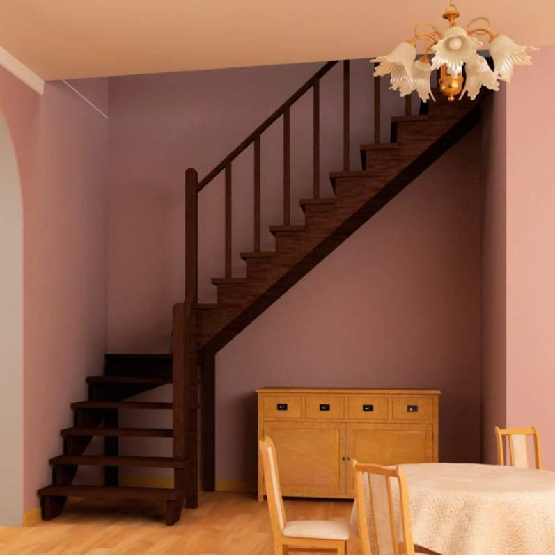 Бетонная y-образная лестница