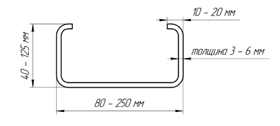 Buy Profile bent with-shaped 250x80x20x3
