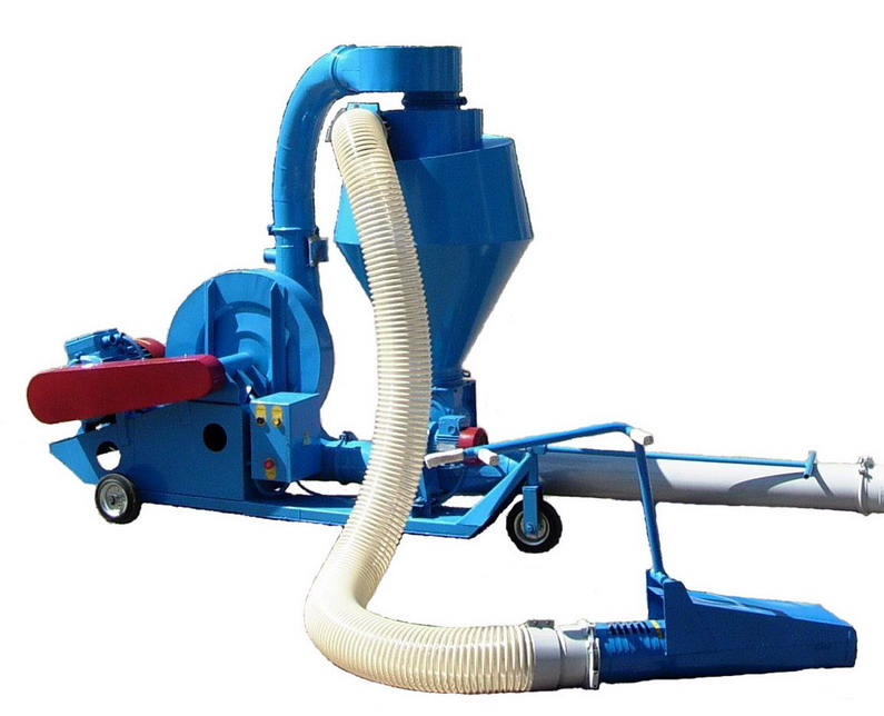 The pneumatic PTZ-8 conveyor with a universal cyclone, Pnevmotransporter