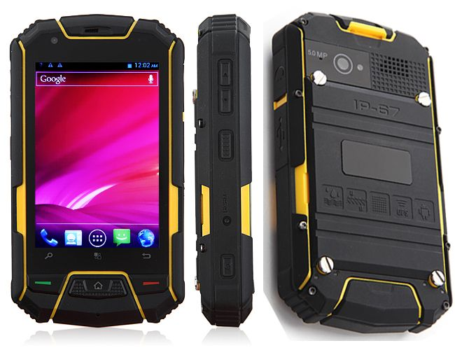 Смартфон M6 Outdoor IP67 Level MTK6577 Dual Core Android 4.0 3G GPS 3.5 Inch