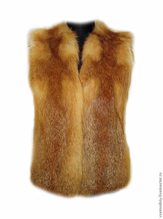 фото меховые жилетки из лисы