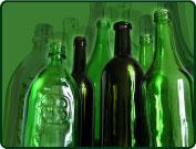 Купить Стеклотара трех разных видов: зеленая, оливковая и бесцветная