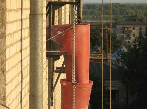 Купить Мусоросброс секционный для строительных работ