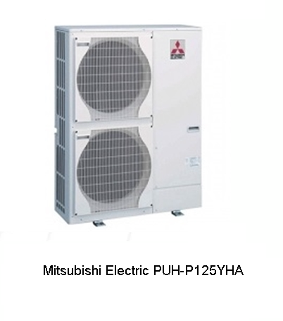 Semi Industrial Mitsubishi Electric PUH P125YHA Air Conditioning Systems