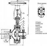 Клапан регулирующий  25с94нж Ду80 Ру63